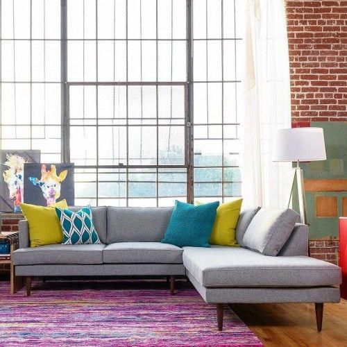 Preston Sectional With Bumper 2 Piece Photo By Gina B Joybird Furniture Furniture Best Leather Sofa