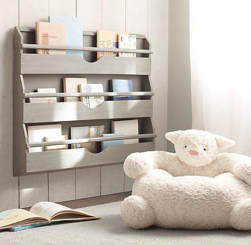 Weathered Wall Bookrack   Storage & Organization   Restoration Hardware Baby & Child