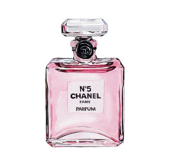 Chanel Handväskor : Chanel no perfume light pink watercolor by