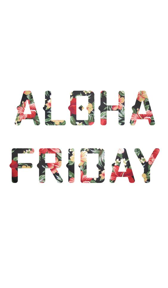 Aloha Friday! I am feeling tropical with all this sunshine!  Here is some weekend inspiration.