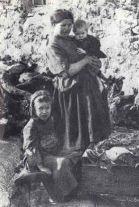 The Great Potato Famine, Ireland,  1840s.  The poor farmers in Ireland were dependent upon potatoes to survive.  Interestingly, despite the huge number or starving people on the island, huge numbers of crops (such as corn and grain) were exported for profit rather than used at home.