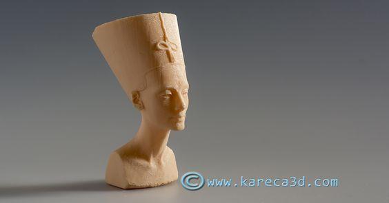 Busto de Nefertiti del museo Neues (Berlin) impreso en 3D