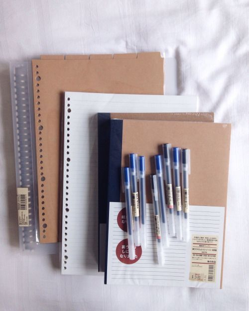 "grangergrades: "" {11/04/16} - went to muji to get supplies today! perks of being a muji regular? all of these costed me $1.15 "":"