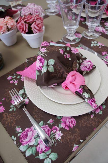 Mesa Posta: Almoço nos tons de Rosa!: