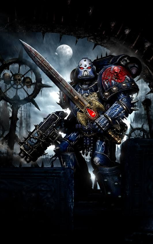 bolter clint_langley night_lords portrait space_marines sword