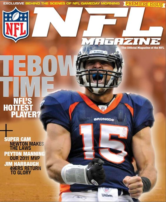 First Cover for the NFL Magazine