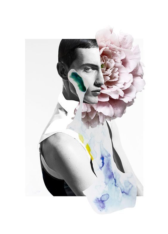 SixLee S/S 2014 x Ernesto Artillo Lookbook. abstract magazine cutout collage style