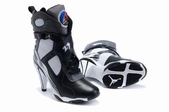 http://www.womennikeshoes.com/womens-air-jordan-8-black-white-boots-p-529.html Only$95.18 WOMENS AIR #JORDAN 8 BLACK WHITE BOOTS Free Shipping!