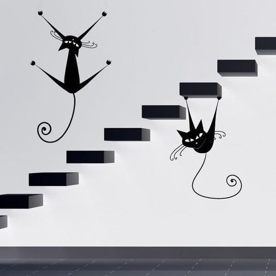 muss ich haben! furniture and wall decorating with black cats