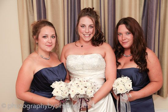 Jenni with her lovely bridesmaids http://www.photographybysimon.com/