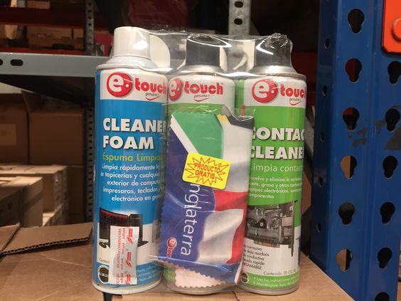 Sprays Etouch para limpieza de todo equipo y gadget  electrónico