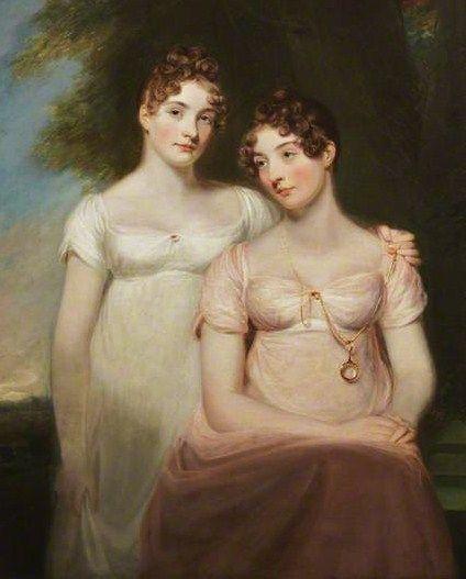 Thomas Stewardson (British artist, 1781–1859) The Ainslie Sisters (Agnes and Margaret) 1808: