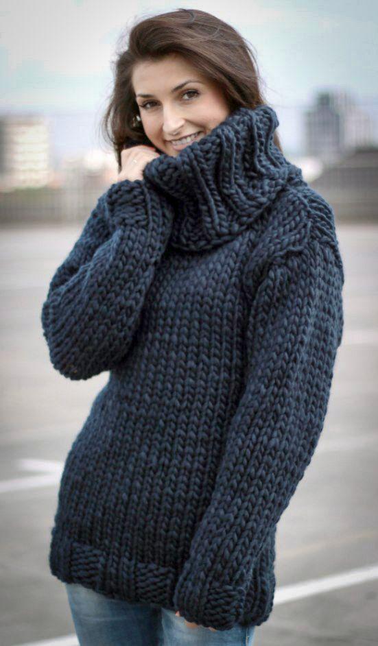 Hand Knit Mohair Sweater Dark Blue Fuzzy Turtleneck 10 strands ...
