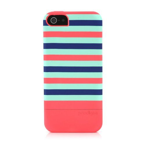 Prodigee 2 piece, Protective & Hard STRIPE Case, iPhone 5 - Neon Peach:Amazon:Cell Phones & Accessories