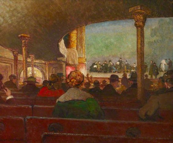 The Rehearsal, Drury Lane; Clare Atwood; painted 1917