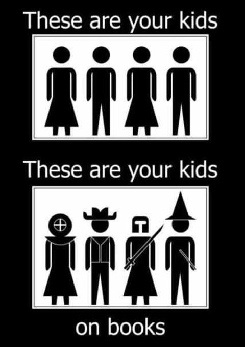 These are your kids on books.