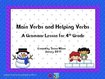 main and helping verbs powerpoint presentations