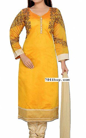 Mustard Georgette Suit | Buy Pakistani Indian Dresses