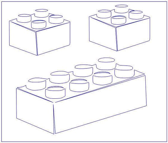 Lego Bricks Stencil Paint Your Own Lego Bricks On Your By Lego Brick Coloring Page