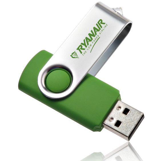 2 GB Flash Drive, Swivel USB Flash Drives