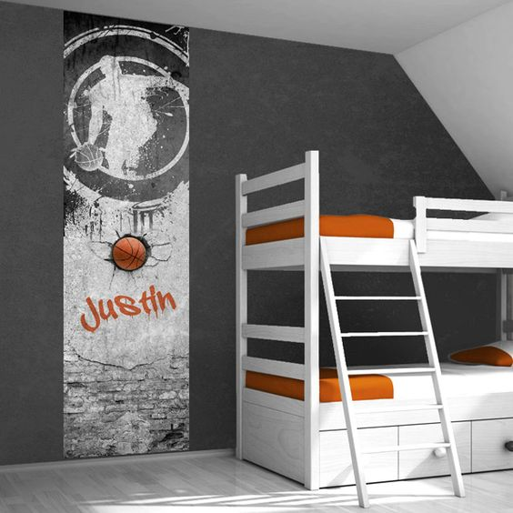 Muursticker basketbal