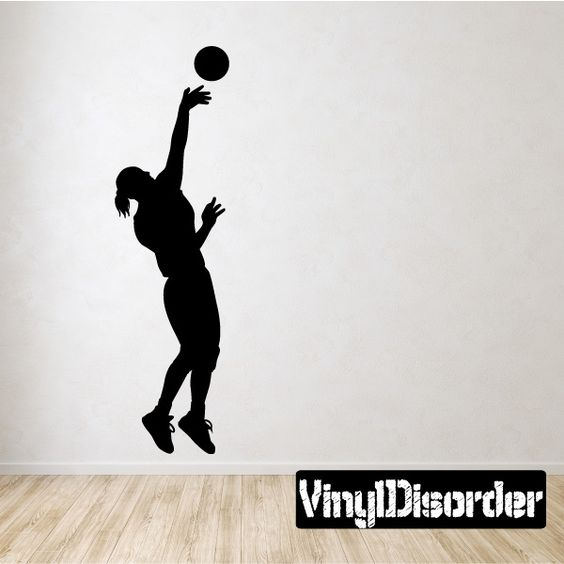 Volleyball Wall Decal Vinyl Decal Car Decal  Vinyls - Vinyl volleyball wall decals