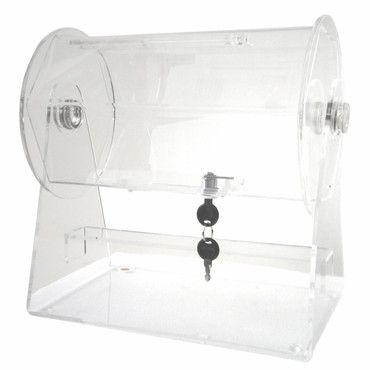 Merske RFL-AC-S Acrylic Small Raffle Ticket Drum