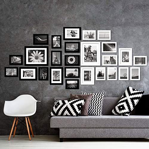 Voilamart Picture Frames Set Of 26 Multi Pack Photo Frame Set Wall Gallery Kit Display Two 8x10 In Five Dorm Room Wall Decor Room Wall Decor Frames On Wall