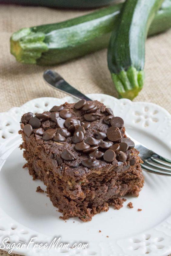 Chocolate zucchini cake with bakers chocolate