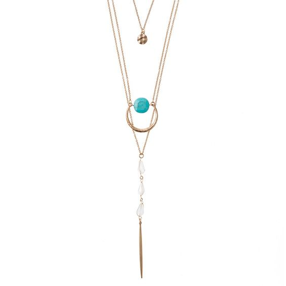DelilahK Adina Triple Layered Necklace// Perfect piece to take on vacation.