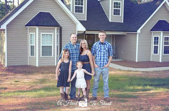 Family session at new house
