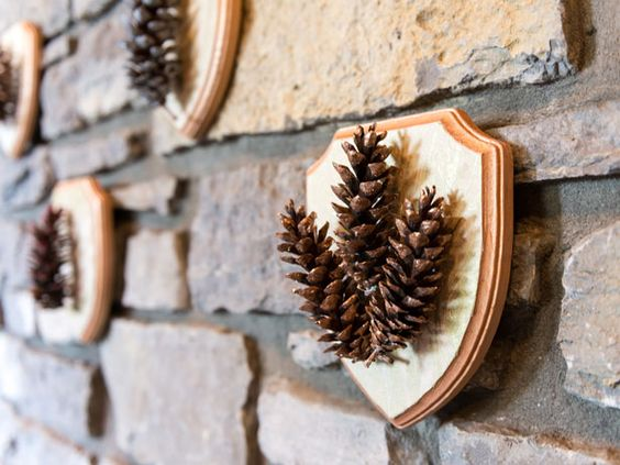 DIY Specimen Art: Painted Pine Cone Plaques (With Glitter!) >> http://blog.diynetwork.com/maderemade/how-to/painted-pinecone-plaques?soc=pinterest: Pinecone Crafts, Diy Crafts, Holiday Party, Glittered Pinecones, Pinecones Stand, Pinecone Plaques, Art Wall, Painted Pinecones