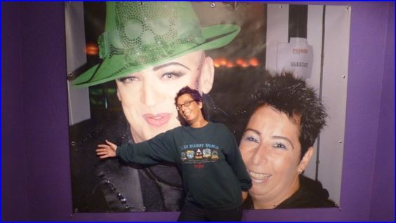big poster of Boy George and me.