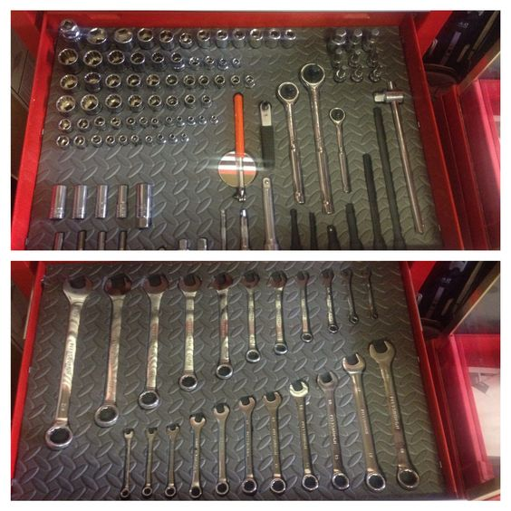 Made my own shadowed tool box using a hot knife and foam for In drawer knife mat