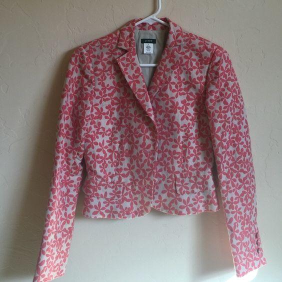 Jcrew linen blend jacket Lovely JCrew jacket in linen cotton blend NWOT J. Crew Jackets & Coats