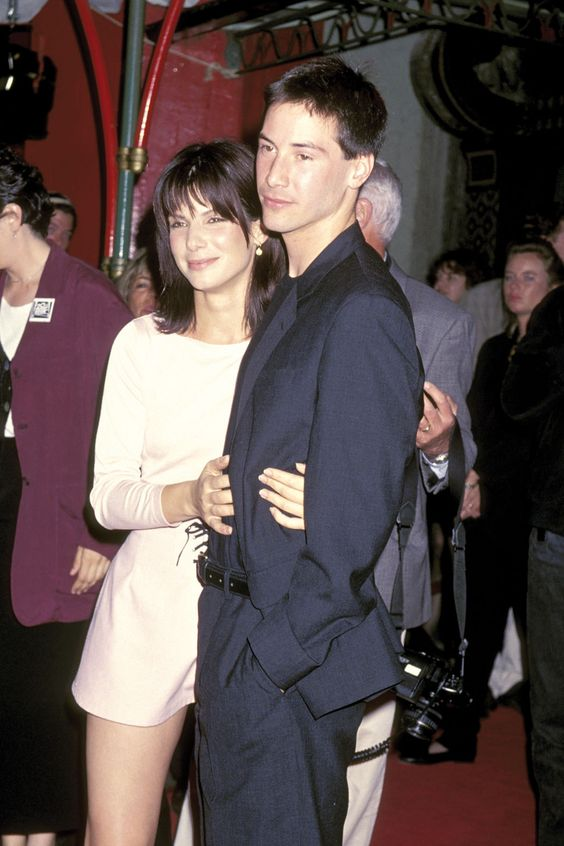'Speed' Stars- Sandra Bullock and Keanu Reeves- they look so young!