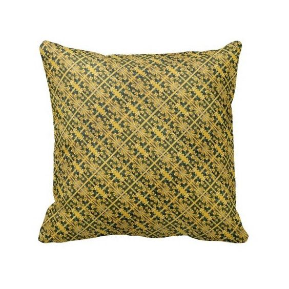 Abstract Yellow Daffodils Throw Pillow | Zazzle ($34) found on Polyvore