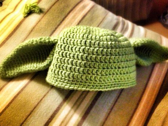 Free Crochet Pattern For Baby Yoda Hat : Ravelry: Crochet Yoda Hat (free) pattern by Teri Heathcote ...