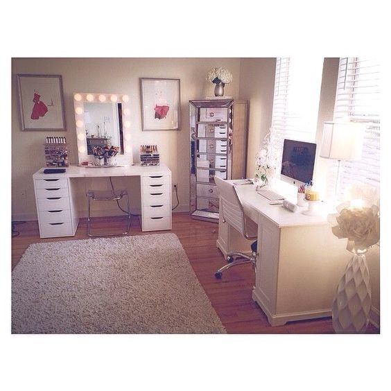 Makeup rooms, Office spaces and Cute makeup on Pinterest
