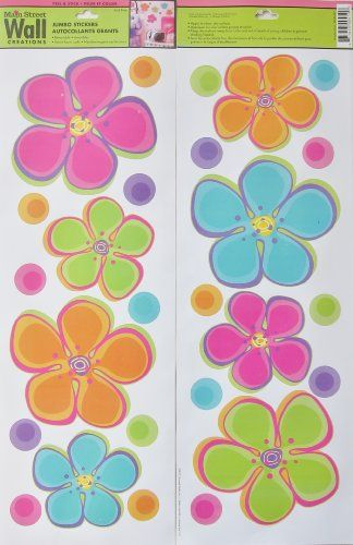 main street wall creations jumbo stickers colorful