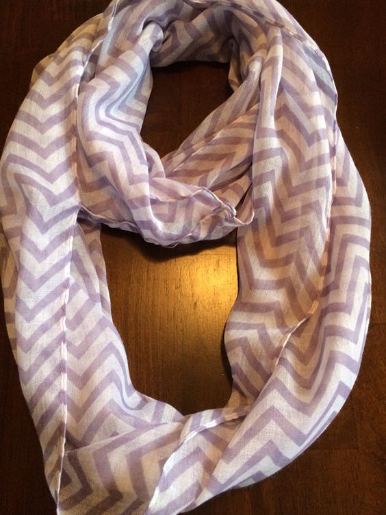 Purple Chevron Infinity Scarf Free Shipping  on Etsy, $10.00