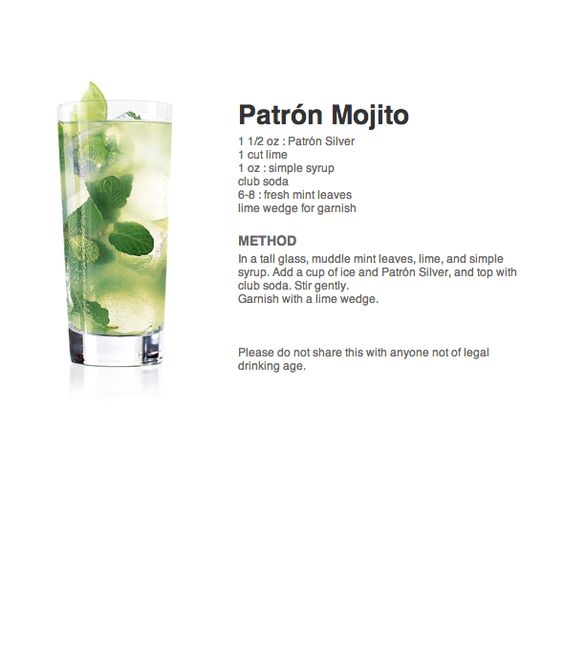 Patrón Tequila - Mojito