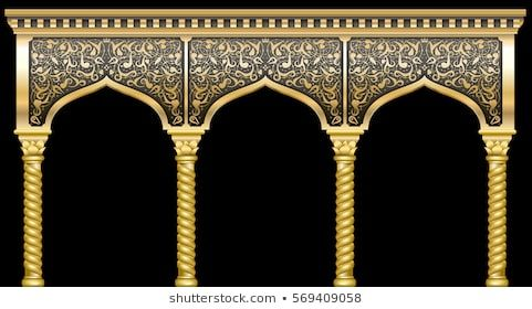 Fairytale Oriental Indian Arabian Arch Background Stock Vector Royalty Free 1121159786 Mughal Art Paintings Islamic Art Pattern Black Texture Background