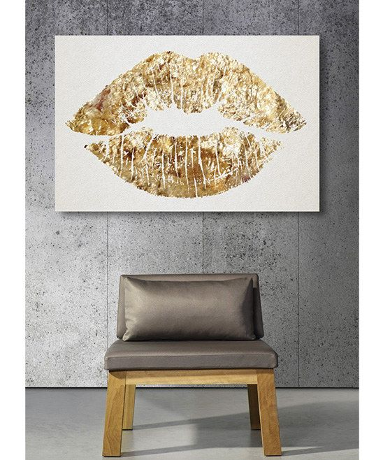 Shimmering Gold Kiss Wall Art