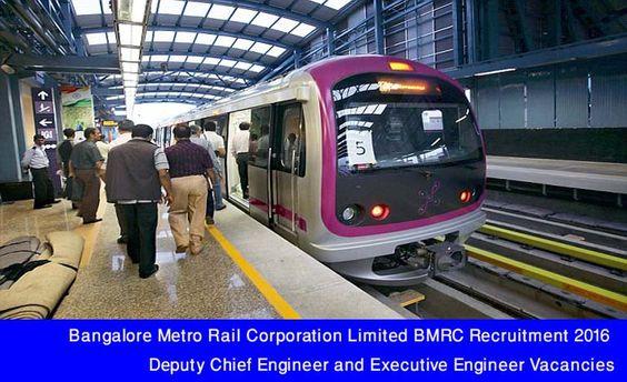 Bangalore Metro Rail Corporation Limited BMRC Recruitment 2016 - chief engineer job description