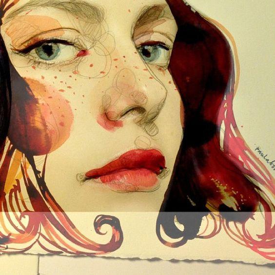 Las chicas de @paulabonet son absolutamente cautivadoras. Puedes ver más ilustraciones de Paula Bonet aquí: www.gnomo.eu/paulabonet                                                                                                                                                      Más