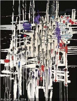 VILLE NOYÉE - VERZONKEN STAD. oil/canvas 1969, sold by Sotheby's, December 03, 2008