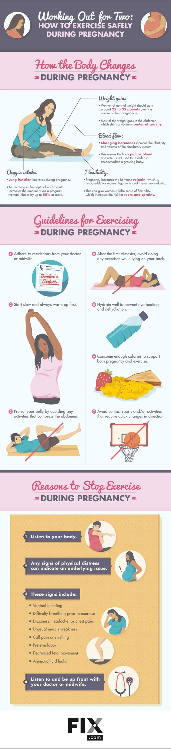 Congratulations! You're pregnant! One of the main concerns women have during pregnancy is maintaining a healthy weight. Learn more about the dos and don'ts of exercising while pregnant.