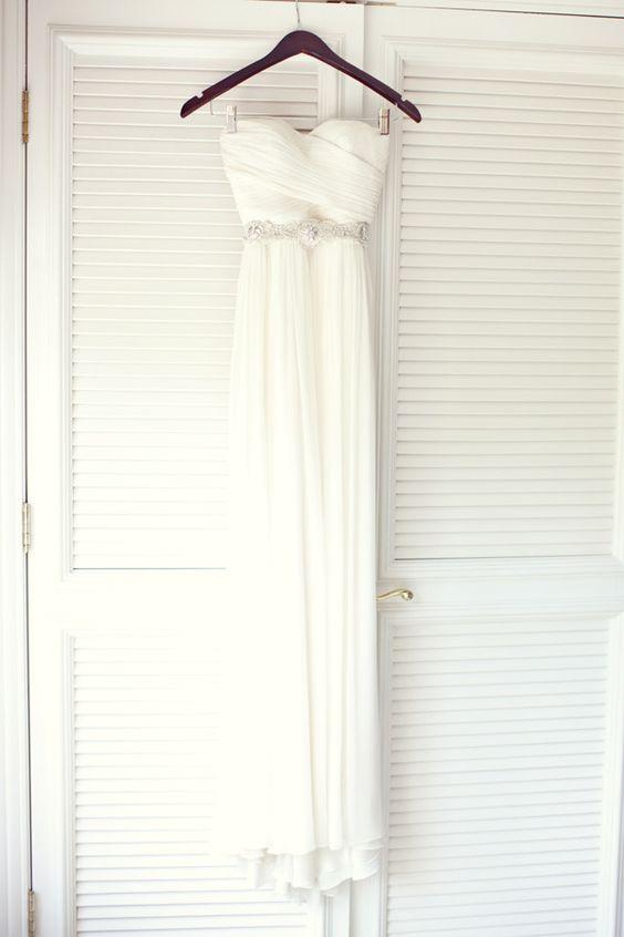Wedding gown by J. Crew. Belt by Romona Keveza. Photography by birdsofafeatherphoto.com