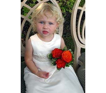 Simple hand tied bouquets for flower girls.